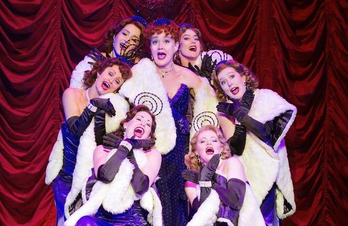 Sophie Thompson (centre) in Guys and Dolls at the Savoy Theatre. Photo: Paul Coltas