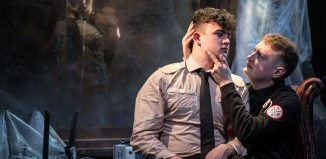 Tom Williams, Joe Dowling and Christopher Laishley in Phil Willmott's production of Fear and Misery of the Third Reich at the Union Theatre. Photo: Scott Rylander