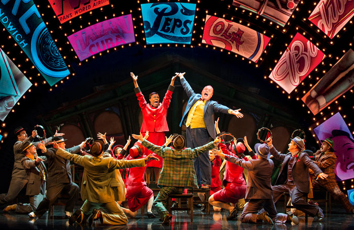 A scene from Guys and Dolls at the Savoy Theatre. Photo: Paul Coltas