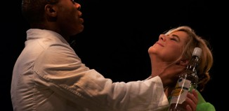 Cornelius Macarthy and Imogen Stubbs in The Long Road South at the King's Head Theatre, London. Photo: Truan Munro