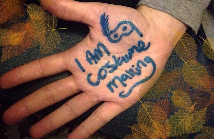 The In Your Hands campaign encourages young theatremakers to write their professions on their hand and upload a photo to social media