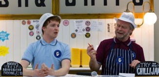 Ben Ryan-Davies and Russel Richardson in Chip Shop Chips at The Hub Salford.