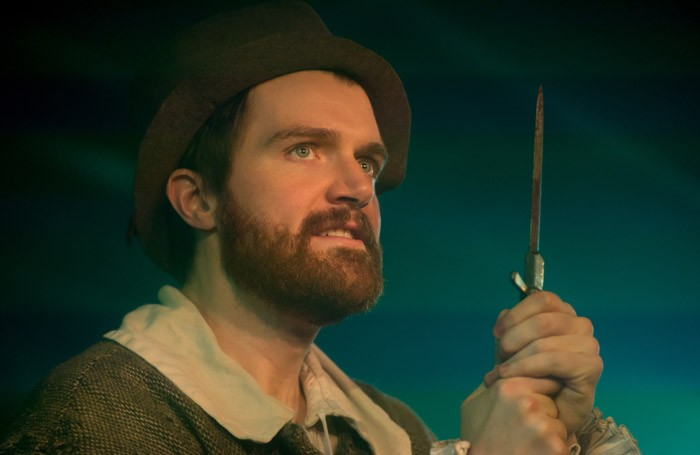 Ciarán Owens in Don't waste Your Bullets on the Dead at the Vaults, London