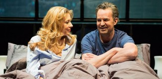 Jennifer Mudge and Matthew Perry in The End of Longing at Playhouse Theatre, London