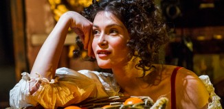 Gemma Arterton in Nell Gwynn at the Apollo Theatre. Photo:Tristram Kenton