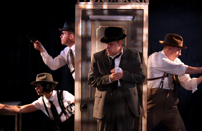 The cast of Hardboiled: the Fall of Sam Shadow at the New Diorama, London