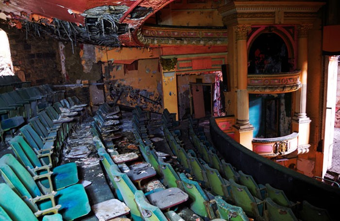 Inside the derelict Empire Theatre in Burnley. Photo: Fragglehunter
