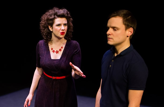 Isobel McArthur and James Anthony-Pearson in Cock at Tron Theatre, Glasgow