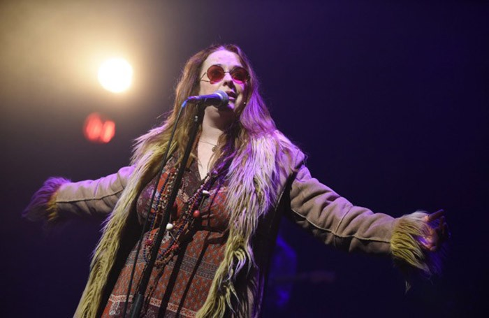 Angie Darcy in Janis Joplin: Full Tilt at Theatre Royal Stratford East, London Photo: Robert Day