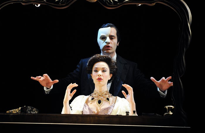 Ramin Karimloo and Sierra Boggess in Love Never Dies. Photo: Tristram Kenton