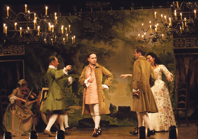 Farinelli and the King at Shakespeare's Globe (2015). Photo: Simon Annand
