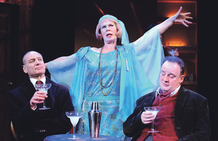 Michael Feast, Celia Imrie and John Warnaby in Plague Over England at the Duchess Theatre, 2009. Photo: Tristram Kenton