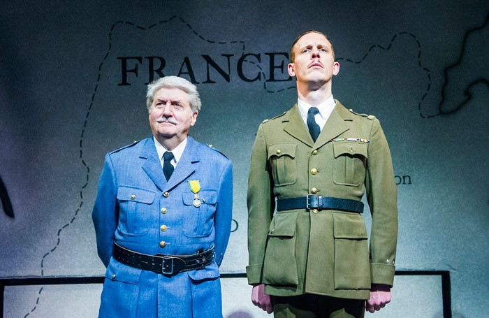 Tom Conti and Laurence Fox in The Patriotic Traitor at Park Theatre, London. Photo: Tristram Kenton