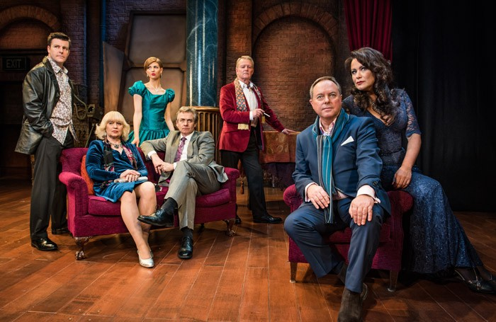 The cast of Rehearsal for Murder at Richmond Theatre, London