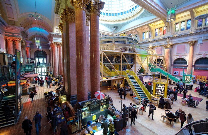 The interior of the Royal Exchange Theatre, Manchester