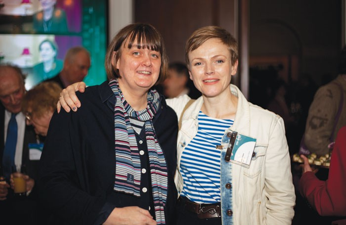 Sarah Frankcom and Maxine Peake at The Stage Awards 2016. Photo: Eliza Power