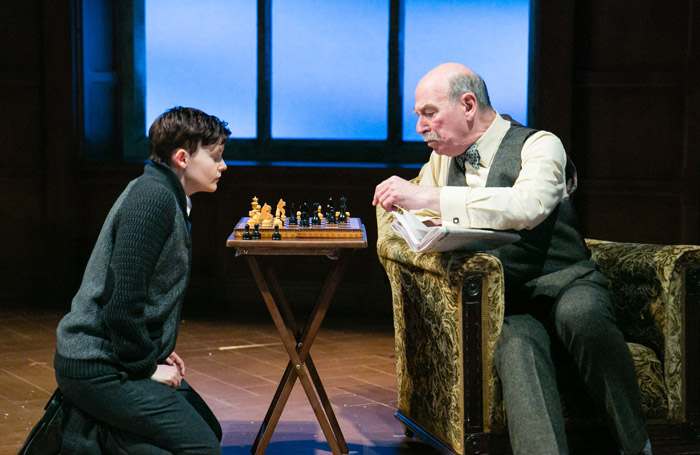 Shannon Rewcroft and Denis Lill in Shadowlands at Yvonne Arnaud Theatre, Guildford. Photo: Jack Ladenburg