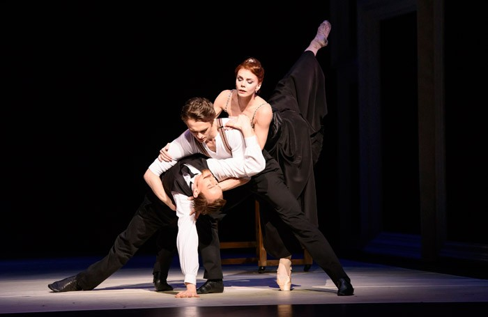 Edward Watson, Matthew Ball and Natalia Osipova in Strapless, ROH, London Photo: Bill Cooper