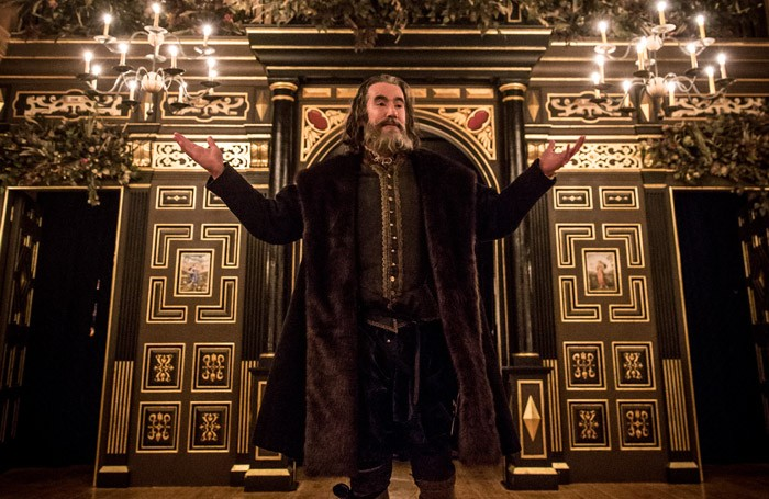 Tim McMullan in The Tempest at the Sam Wanamaker Playhouse, London. Photo: Marc Brenner