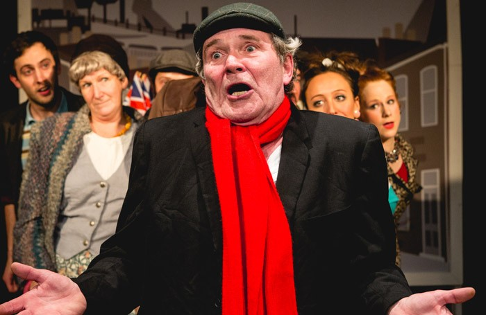 Roger Alborough and the cast of Andy Capp the Musical at Finborough Theatre, London