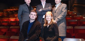 Prize judges: Kevin Fearon, Alistair Smith, Paul Allen, Catherine Jones and Frank Cottrell-Boyce. Photo: Alan Edwards