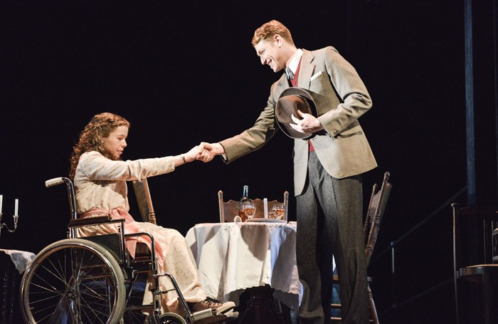Amy Trigg and Daniel Donskoy in The Glass Menagerie at Nottingham Playhouse,