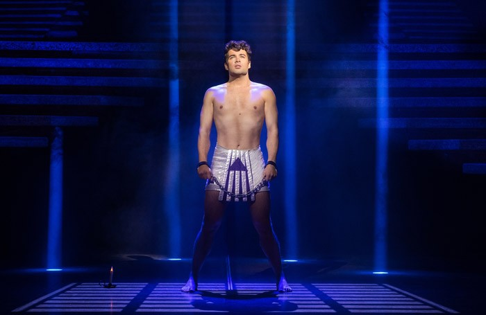 Joe McElderry in Joseph and the Amazing Technicolor Dreamcoat at Churchill Theatre, Bromley. Photo: Mark Yeoman