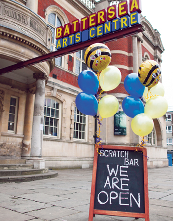 Battersea Arts Centre has remained open since the fire. Photo: James Allan