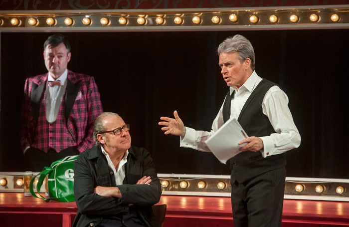 Grant Scott, Andy Gray and Allan Stewart in Canned Laughter at the Adam Smith Theatre. Photo: Douglas Robertson