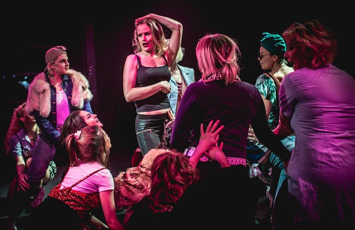 Scene from Bad Girls – The Musical at the Union Theatre, London. Photo: Darren Bell