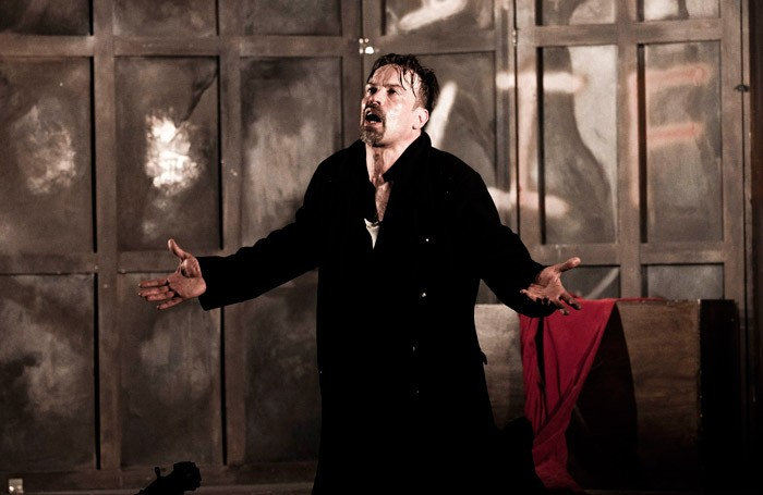 Justin Butcher in The Devil's Passion at Crypt of St Johnn, London. Photo: Hannah Barton