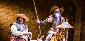 Rufus Hound and David Threlfall in Don Quixote at Swan Theatre, Stratford. Photo: Tristram Kenton