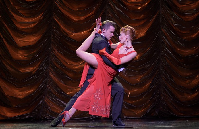 Max and Solange in Immortal Tango at the Peacock Theatre, London. Photo: Andrew Lang