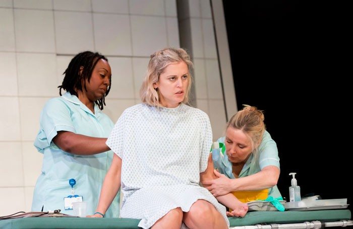 Jacqui Dubois, Denise Gough and Sally George in People, Places and Things. Photo: Johan Persson