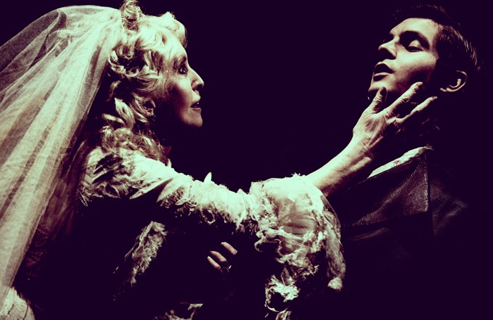 Jane Asher and Danield Boyd in Great Expectations at West Yorkshire Playhouse, Leeds. Photo: Idil Sukan