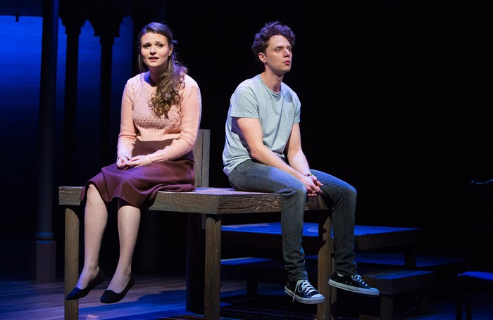 Katie Birtill and Chris Cowley in The Last Five Years at the New Wolsey Theatre, Ipswich