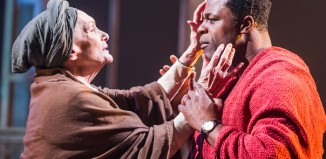 Sian Phillips and Danny Sapani in Les Blancs at the National Theatre. Photo: Tristram Kenton