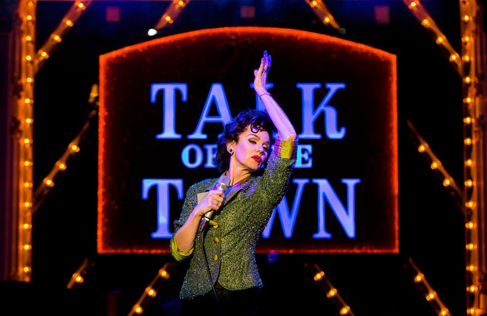 Lisa Maxwell as Judy Garland in End of the Rainbow at Churchill Theatre, Bromley. Photo: Pamela Raith