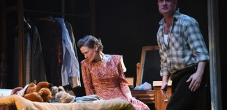 Augustina Seymour and Patrick Knowles in Look Back in Anger at Derby Theatre. Photo: Robert Day