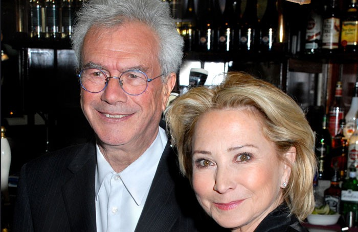 Michael White with Felicity Kendal at the press night of The Last Cigarette in 2009. Photo: Limelight Studios