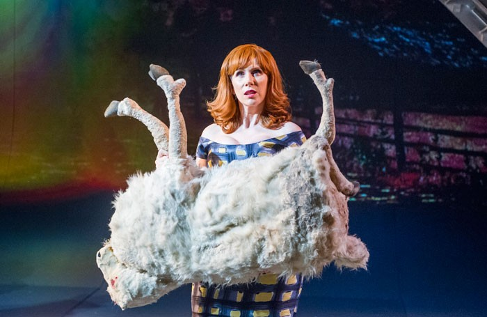 Catherine Tate in Miss Atomic Bomb at the St James Theatre, London. Photo: Tristram Kenton