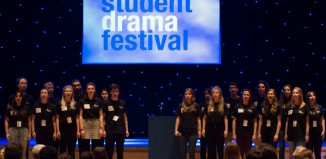 The National Student Drama Festival opening ceremony. Photo: Aenne Pallasca