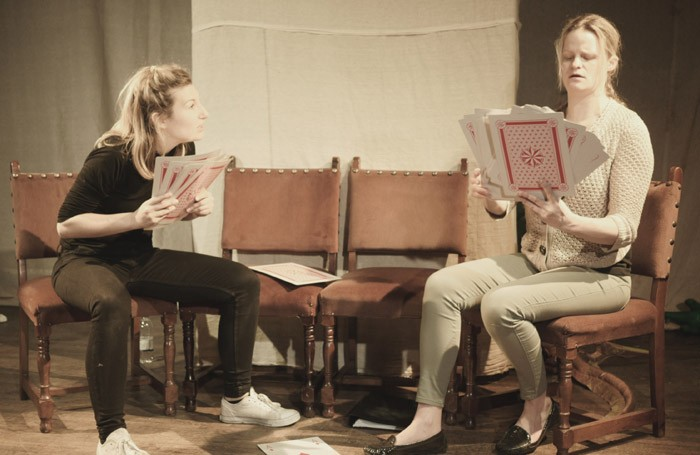 Stella Taylor and Henri Merriam in Nonsense and Sensibility at Above the Arts, London.