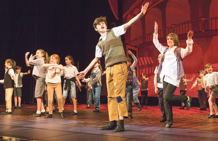 PQA students perform their most recent show, The Lazy Ace, at Her Majesty's Theatre, London. Photo: Brian Thomas