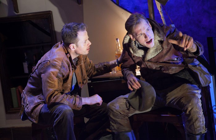 Simon Darwen and Michael Edwards in The Fifth Column at Southwark Playhouse. Photo: Philip Gammon