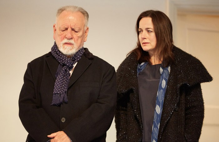 Kenneth Cranham and Amanda Drew in the Father at Duke of York's Theatre, London. Photo: Mark Douet