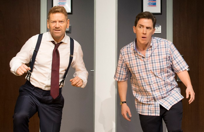 Kenneth Branagh and Rob Brydon in The Painkiller at the Garrick Theatre. Photo: Johan Persson
