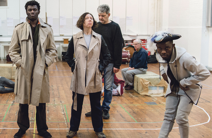 Cast members in rehearsals for I Am Thomas. Photo: Manuel Harlan