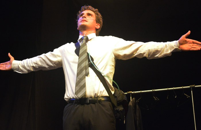 Thom Jordan in Thorn at Camden People's Theatre, London.