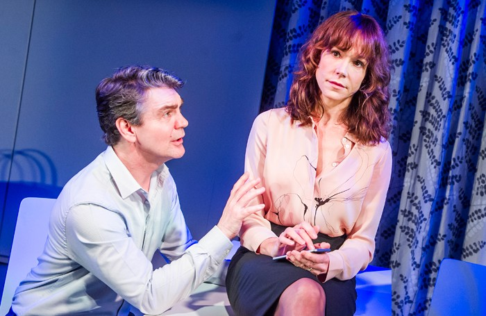 Alexander Hanson and Frances O'Connor in The Truth at the Menier Chocolate Factory. Photo: Tristram Kenton